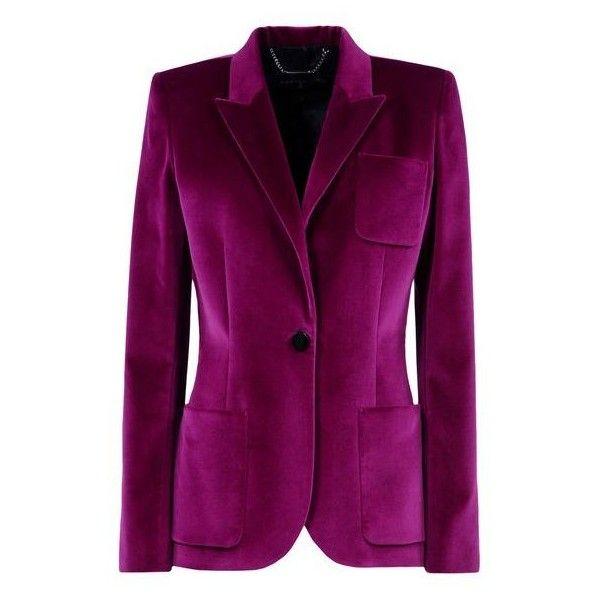Velvet masculine jacket ($1,115) ❤ liked on Polyvore featuring outerwear, jackets, blazers, purple jacket, velvet blazer, velvet jacket, blazer jacket and purple blazer jacket