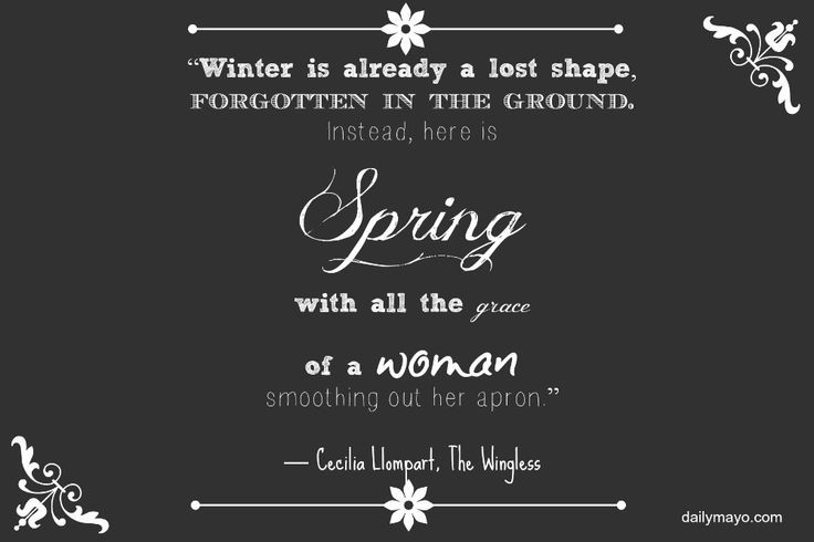 Quote Me Thursday Link-Up 25: Spring Quotes Quote Me Thursday Link-Up 25: Spring Quotes   Daily Mayo <a class=