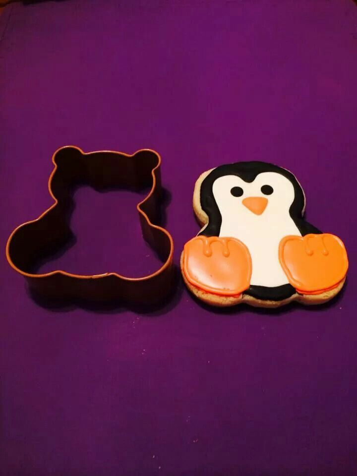Penguin by Brandi Migasi.  (Shape from Wilton's 4-pc baby theme cookie cutter set.)