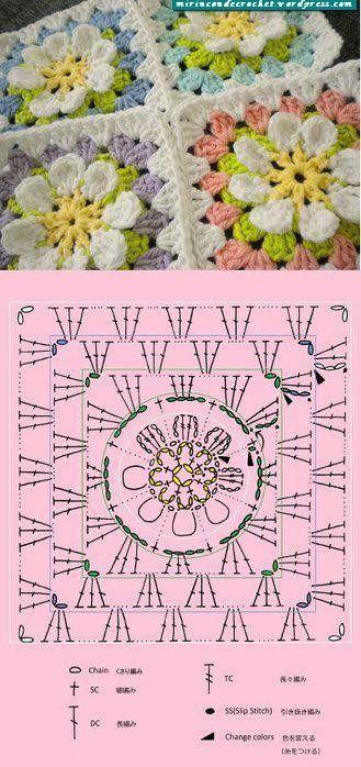 flower afgan ✭Teresa Restegui http://www.pinterest.com/teretegui/ ✭