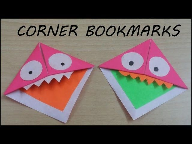 monster bookmarks how to make