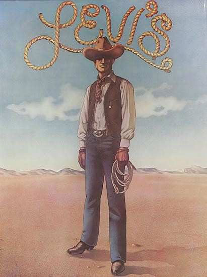Levi's old cowboy heart from the #1970s