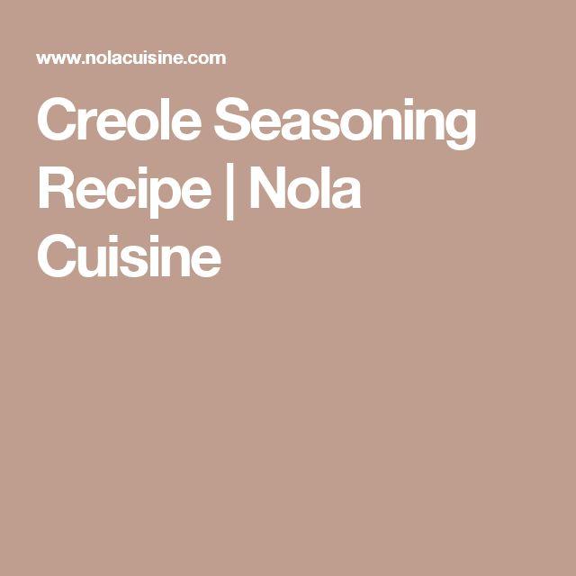 Creole Seasoning Recipe   Nola Cuisine