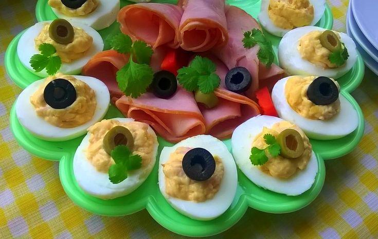 Domowa Cukierenka - Domowa Kuchnia: jajka z farszem chrzanowo-serowym