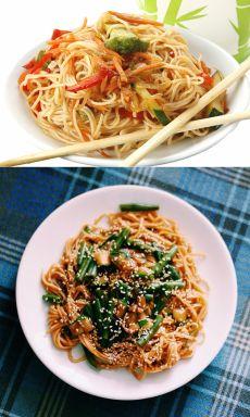 Яичная лапша с овощами / Простые рецепты