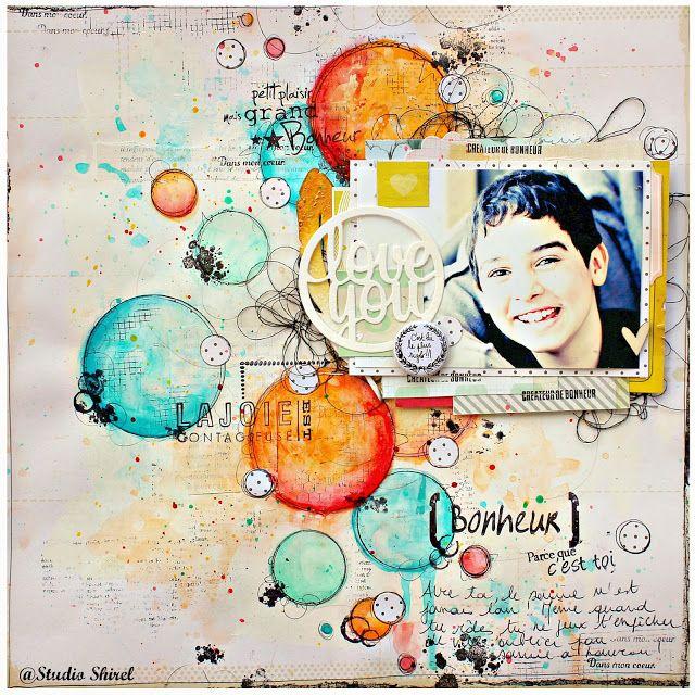 Shirel Studio : Love You Online workshop  Pop and Colours  Art of Background