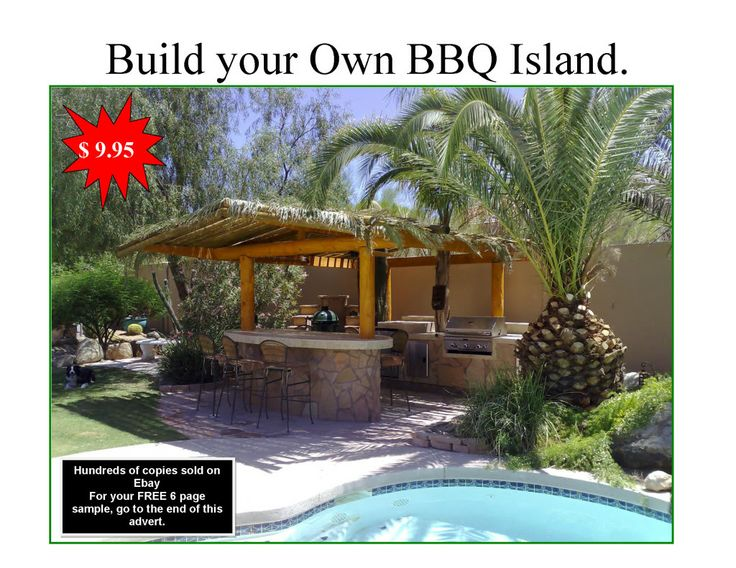 bbq island designs | Details about DIY BBQ Island Plans, How to build a BBQ Island, Build ...