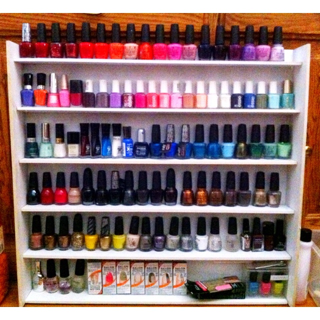 12 Best Images About DIY: Nail Polish Racks On Pinterest
