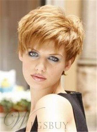 Super Short 100 Human Hair Capless Wig for Women