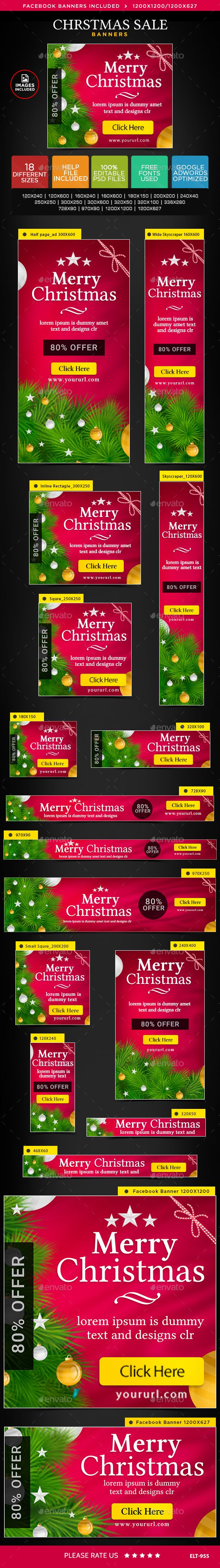 Christmas Sale Web Banners Template PSD #design #ad #xmas Download: http://graphicriver.net/item/christmas-sale-banners/14125758?ref=ksioks
