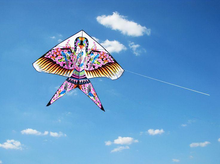 Weifang Kite authentic Swallow Sand Martin triangle children's cartoon goldfish traditional kite line kite round shipping - Taobao