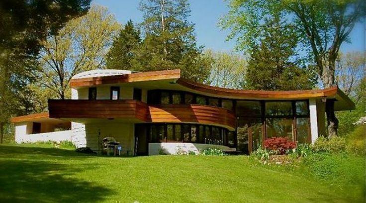 Curtis meyer house frank lloyd wright usonian style for Meyer house