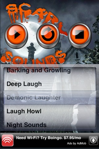 Scary Sounds, a free app, lets you create your own haunted house of horror! You can choose from a sound bank of scary sounds, or even create a combination of sounds to loop. Sounds include growling, laugh, howl, screech, wicked witch laugh and wolves howling. Attach your smartphone to a speaker and create a spooky ambiance for your next Halloween party.