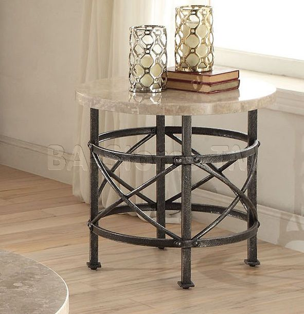Shop for Nestor Round Marble Top End Table | Coffee, Side and End Tables AF-80442/2