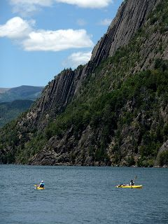 Kayakers on Los Siete Lagos, San Martin de Los Andes, Patagonia, Argentina (photo by Simone Cannon)