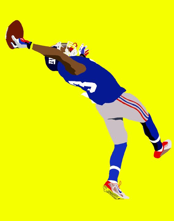 Odell Beckham Jr. The Catch Printed Poster by NeonRevDesigns