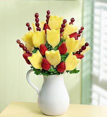 Mirad que bonito adorno hecho con frutas. #ideas #decoración #frutas