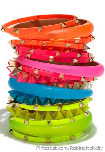 get a rockin jewlery box going for all her amazing braclets she has gotten. Cara Studded Bangles