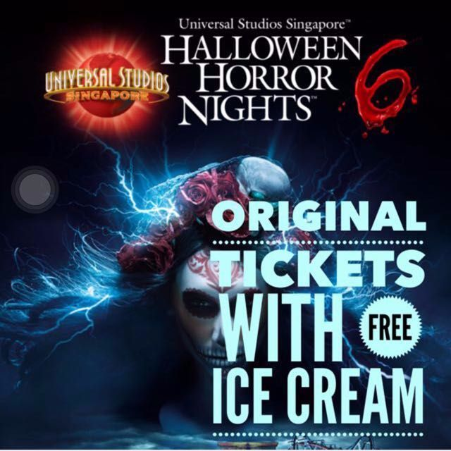 halloween horror night 6 with free ice cream tickets - Halloween Horror Nights Free Tickets