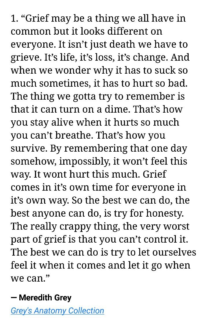 essay on grief and loss
