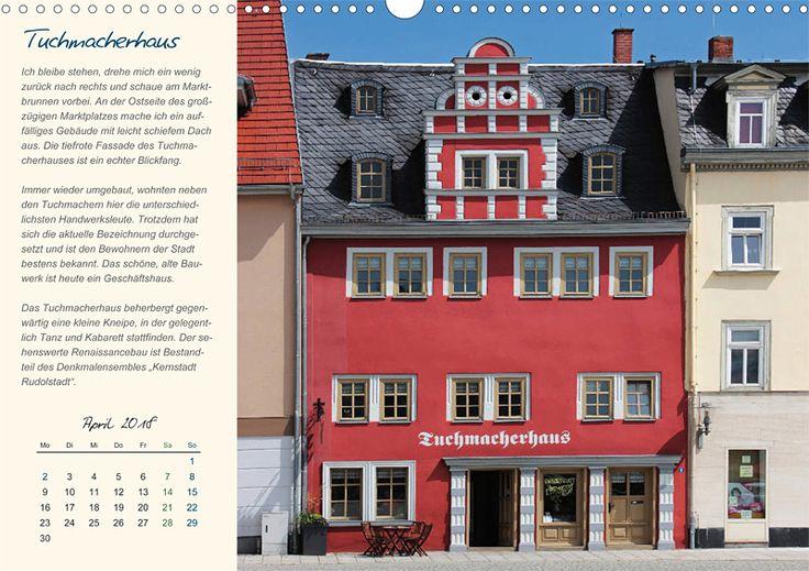 """Städte- und Regionalkalender """"Rudolstadt – mein Spaziergang durch den historische Stadtkern"""", Kalenderblatt April: Tuchmacherhaus"""