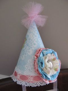 So cute! Shabby Chic Party Hats