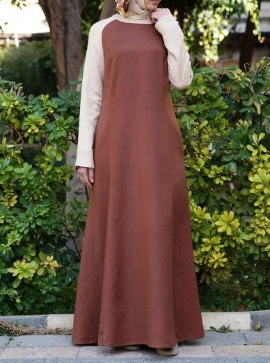 Linen Contrast Maxi Dress