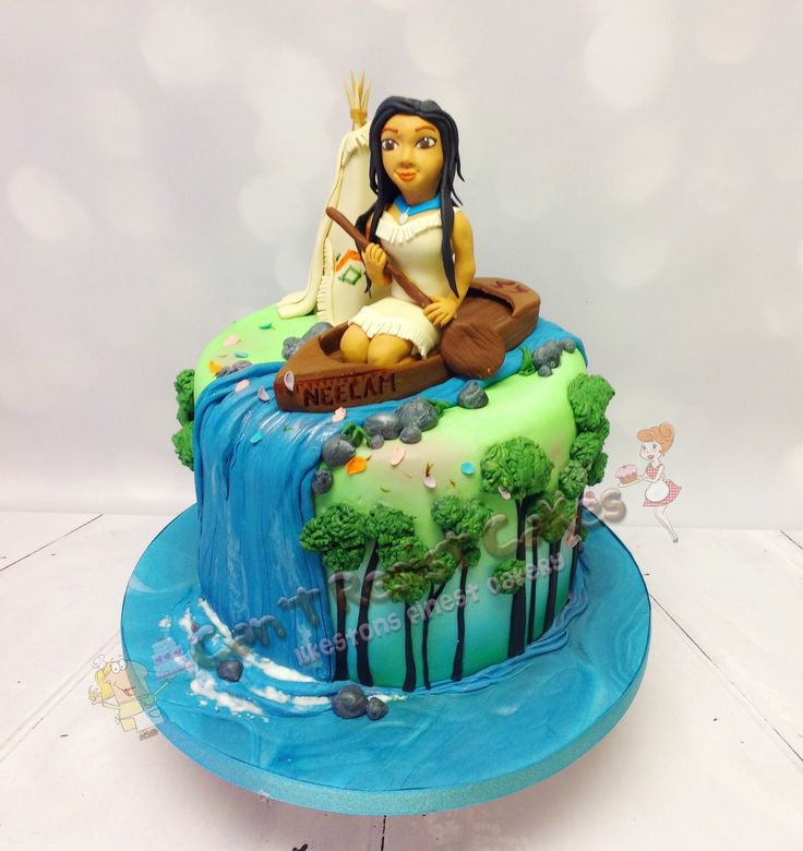 Pocahontas birthday cake perfect for girls birthday