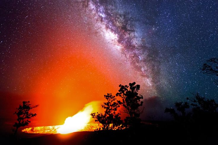 "‎""Eternal Vitality""Clouds, Nature, Lava, Northern Lights, Volcano Crater, Glow, Tso Photography, Kilauea Volcano, Milky Way"