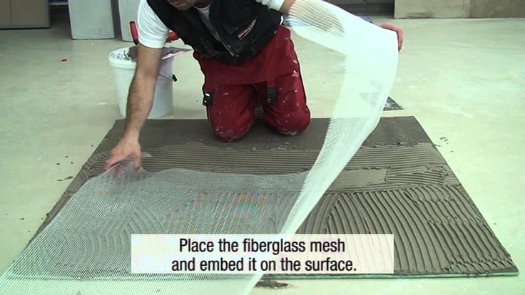Application of the decorative cement screed DUROCRET-DECO by ISOMAT