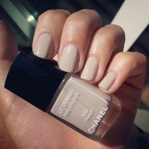 Nude nail polish. Chanel manicure in Frenzy. www.withlovefromk...