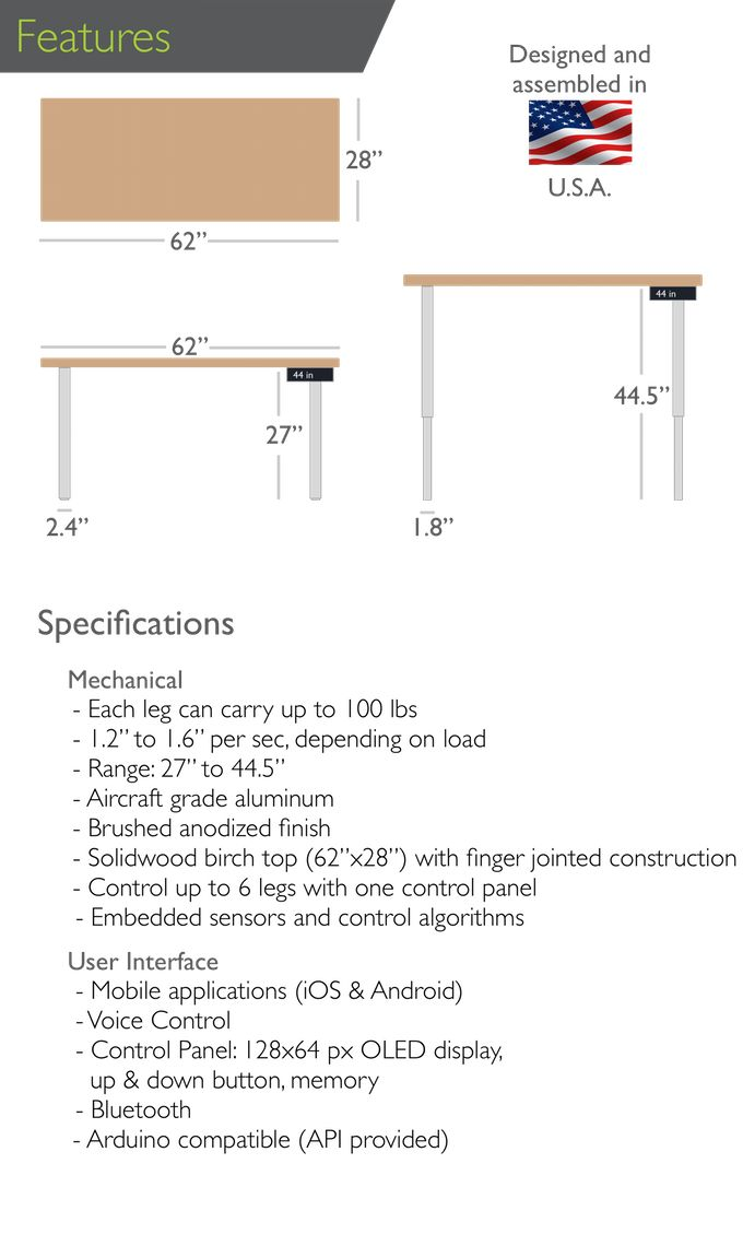 The electric standing desk by StandiT.  Simple, Sleek, Smart