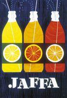 Design by Finnish artist and designer Erik Bruun, advertisement for soda pop in the 1950's http://bruundesign.com