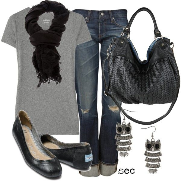 Weekend Casual-- love everything but the earrings