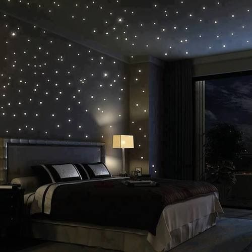 Black room with stars. 17 Best images about Chic Sleek   Black Rooms on Pinterest   Paint