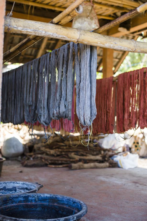 Natural dye process with Threads of Life weavers- from the Ann Street Studio blog
