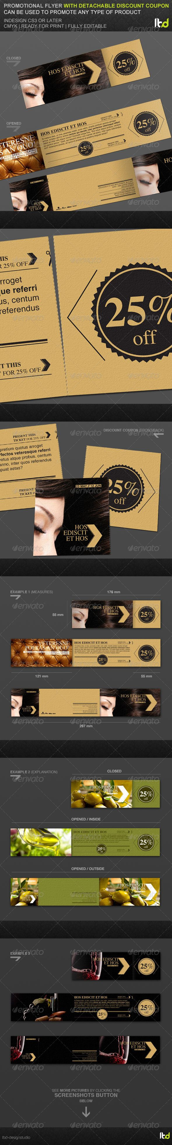 Promotional Flyer With Detachable Discount Coupon - Miscellaneous Events