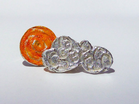 Pure Silver Mismatched Stud Earrings  Sun and Cloud by SiBijoux, €65.00