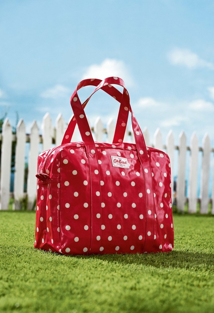 Spot poppy red oilcloth large zip bag. From Cath Kidston's BEST IN SHOW: Spring 2013 #spring #bags
