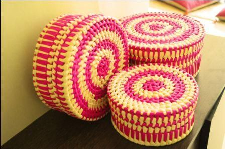 Boxes for everything, handwoven using Palm leaf