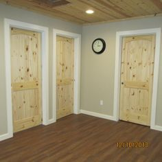 OFF WHITE TRIM WITH PINE DOORS - Google Search