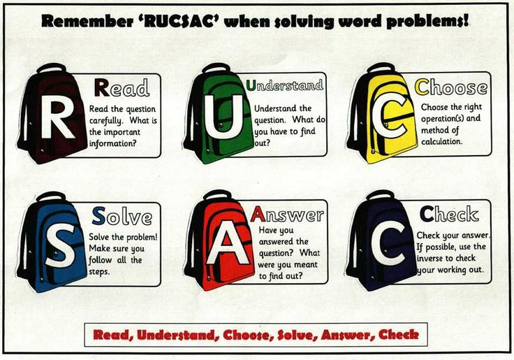 Classroom Ideas Year One ~ Image result for maths acronym rucsac karma only pinterest