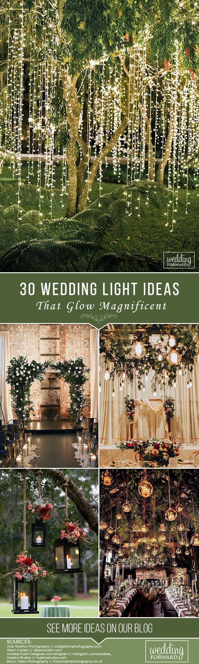 30 Wedding Light Ideas That Glow Magnificent ❤️ See more: http://www.weddingforward.com/wedding-light-ideas/ #wedding #decorations #weddingplanning
