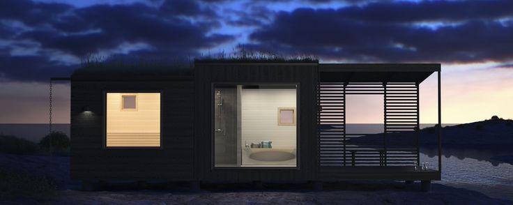Nyckelfärdig c/o Arja Modern Sauna Spa med elvärmd sauna, dusch och relaxrum från 339.000 kr.