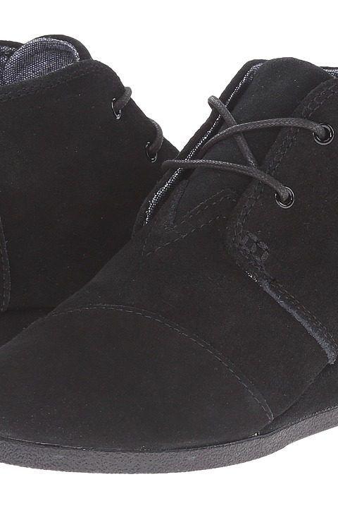 TOMS Kids Desert Wedge Bootie (Little Kid/Big Kid) (Black Suede) Kids Shoes - TOMS Kids, Desert Wedge Bootie (Little Kid/Big Kid), 10003553-001, Footwear Closed Wedge, Wedge, Closed Footwear, Footwear, Shoes, Gift, - Street Fashion And Style Ideas
