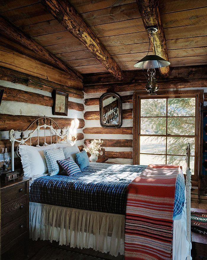 log cabin bedroom rustic bedroom via country at westernhome 12155
