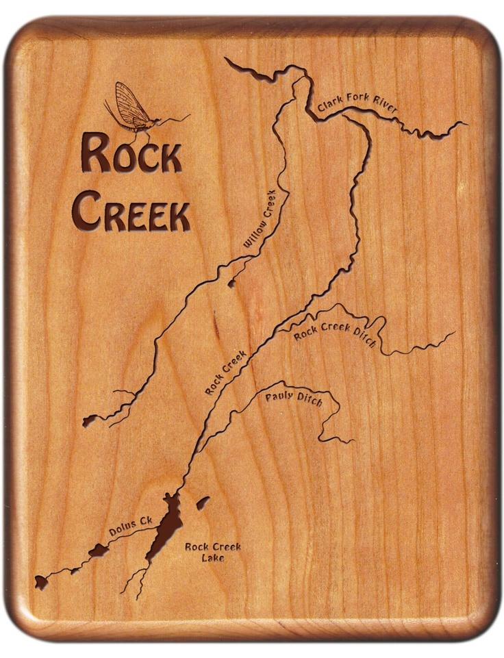 Rock creek river map fly box deer lodge montana for Rock creek fishing