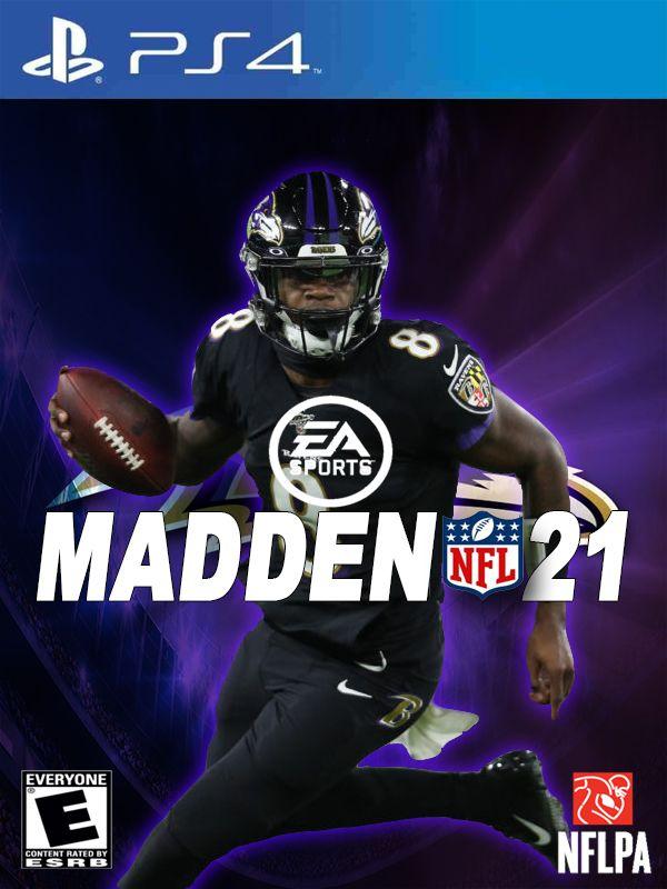 Madden 21 Alternate Ps4 Cover In 2020 Lamar Jackson Wallpaper Nfl Football Art Lamar Jackson