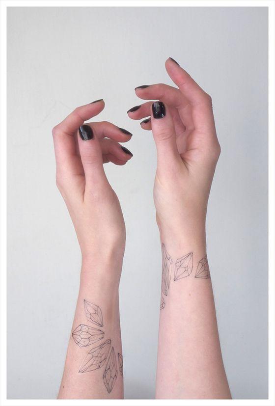 Fern + Crystal Temporary Tattoos