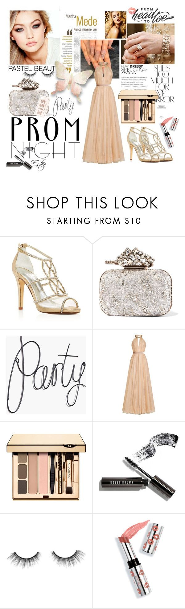 """""""Best Prom Night"""" by estee-zilberman ❤ liked on Polyvore featuring Martha Medeiros, Caparros, Jimmy Choo, Maybelline, Jenny Packham, Rika, Bobbi Brown Cosmetics, tarte, Ciaté and Kate Spade"""